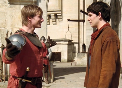 merlin and arthur meet